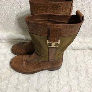 Women's Tory Burch Corey mid calf boots shoes
